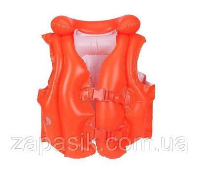 Детский Спасательный Жилет INTEX 58671 Красный Размер 50-47 см от 3 до 6 Лет
