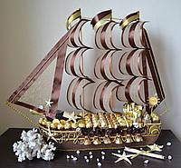 """Корабль из конфет """"Шоколад"""""""