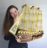 """Корабль из конфет """"Всё будет в шоколаде"""""""