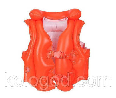 Дитячий Рятувальний Жилет INTEX 58671 Червоний Розмір 50-47 см від 3 до 6 Років