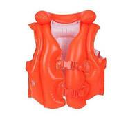 Дитячий Рятувальний Жилет INTEX 58671 Червоний Розмір 50-47 см від 3 до 6 Років, фото 1