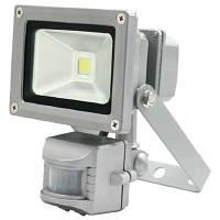 Светодиодный прожектор LED Flood Light 10W с встроенным датчиком движения