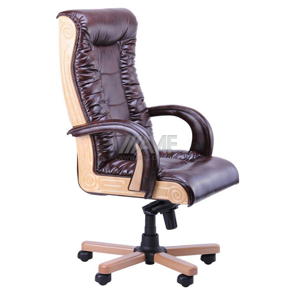 Кресло руководителя Кардинал LUX MB (Бук)(с доставкой) (механизм МВ)