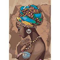 """Роспись по номерам """"Жемчужина Африки"""" 35х50см KHO2625"""