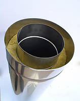 Труба дымоходная сэндвич нержавеющая утепленная 0,6мм d 140мм h 500мм