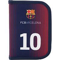 BC19-622 Пенал без наполнения Kite 2019 Education FC Barcelona 622, 1 отделение, 2 отворота