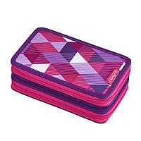 50021062 Пенал с наполнением 31 предмет Herlitz Triple Cubes Pink Кубики розовые
