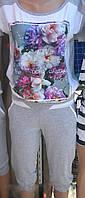 Женский летний спортивный костюм с капри принтDolce&Gabbana