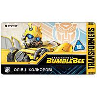 TF19-058 Карандаши цветные трехгранные (12 шт) KITE 2019 Transformers 058