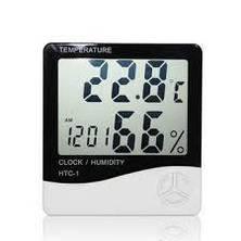 Универсальный термометр гигрометр с часами HTC-1!Розница и Опт, фото 2