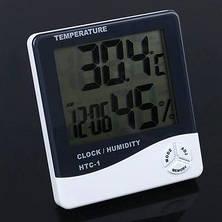Универсальный термометр гигрометр с часами HTC-1!Розница и Опт, фото 3