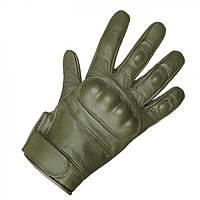 Тактические перчатки кожаные MilTec Olive 12504101 L