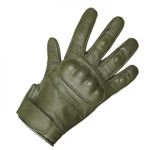 Тактические перчатки кожаные MilTec Olive 12504101 M