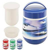 Термос харчовий пластик і скло J00043 різні кольори, 1.2 л, термос для їжі, термос для продуктів, термо контейнери для їжі