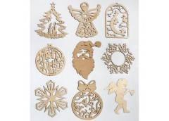 Игрушки новогодние деревянные (ассорти) (5)