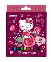 HK19-047 Фломастеры 12 цветов KITE 2019 Hello Kitty 047