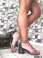 Женские капучино,кожаные босоножки,на каблуке 38