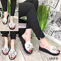 Женские кожаные шлепанцы 36