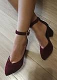 Комфортные туфли Limoda из натуральной замша босоножки на каблуке 6 см очень красивые цвет латте, фото 9