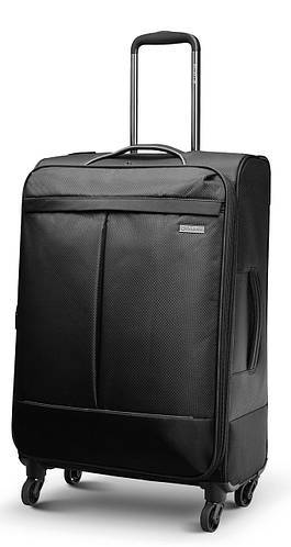 Практичный четырехколесный средний чемодан 61/74 л. Carlton Vayu 090J468;01 черный