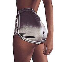 Женские шорты для пляжа и спорта Caroset серебро атлас