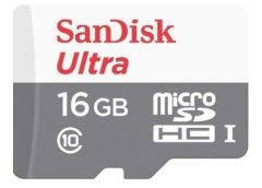 Карта памяти Sandisk micro SDHC 16Gb Ultra Class 10 USH-I 48Mb/s + SD адаптер