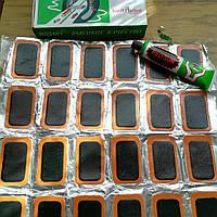 Ремкомплект резиновые латки  для ремонта шин и резиновых изделий 24 латки
