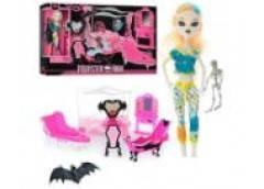 Мебель спальня + кукла шарнирная 26см., аксессуары в кор. 53х32х11см. 66536 (18)