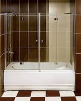 Душевая шторка распашная на ванну с петлями