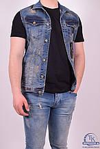 Жилетка джинсовая мужская (цв.синий) BigCastino 2030 Размер:42,44