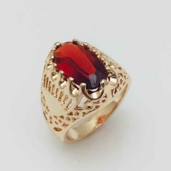 Кольцо Fallon Красный камень, размер 18, 19