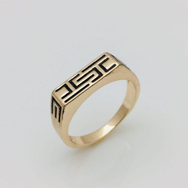 Кольцо мужское Греческое, размер 19, 20, 21, 22, 23