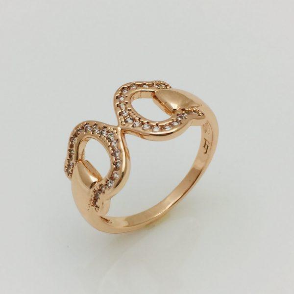 Кольцо Сажей,  позолота 18К , размер 16, 17, 18