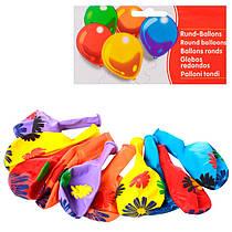 Набір надувних кульок (10 шт.), з малюнком, 13 см, MET10013