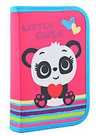 """531689 Пенал твердый одинарный с клапаном SMART """"Panda"""""""