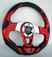 Руль спортивный с термометром №604 (красный)