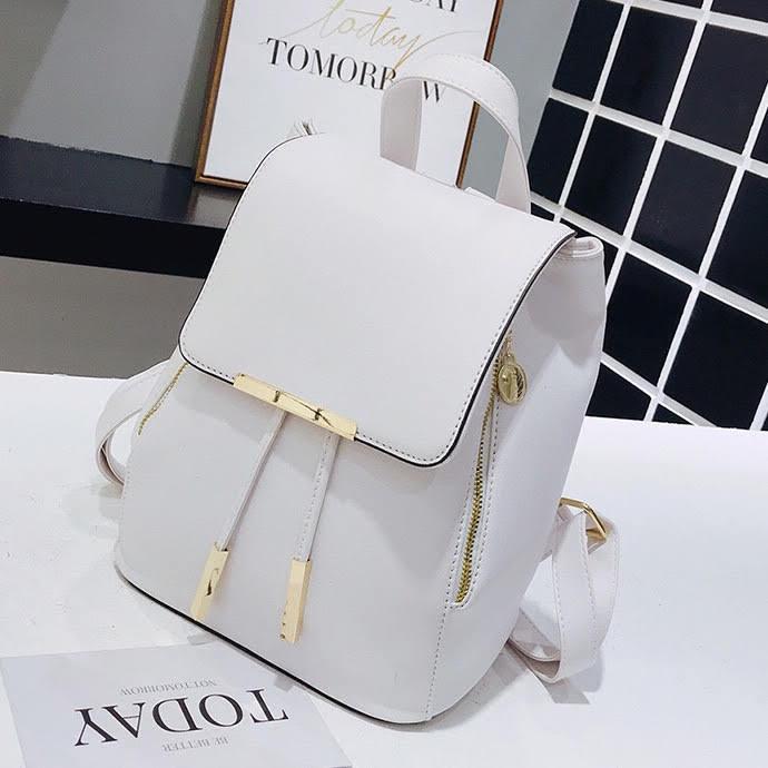 Женский рюкзак Ангелина белый, городской стиль.