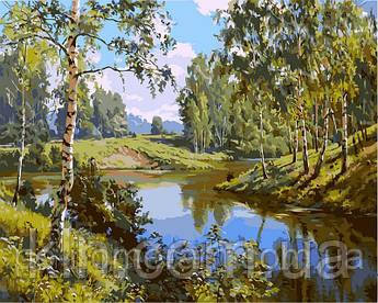 Картина за номерами Babylon Тиха річка (VP401) 40 х 50 см