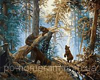 Картина по номерам Menglei Утро в сосновом бору худ Шишкин Иван (VP404)  40 х 50 см
