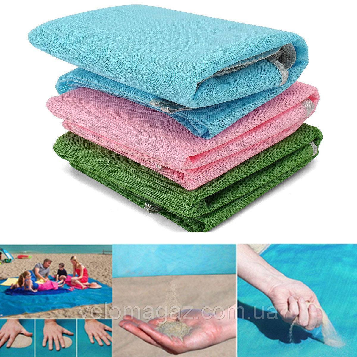Пляжная подстилка анти-песок Sand Free Mat / пляжный коврик / коврик для пикника / коврик для моря