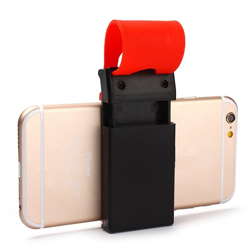 Автомобильный держатель телефона GPS на руль/ крепление для телефона HOLDER 800 Черно-красный
