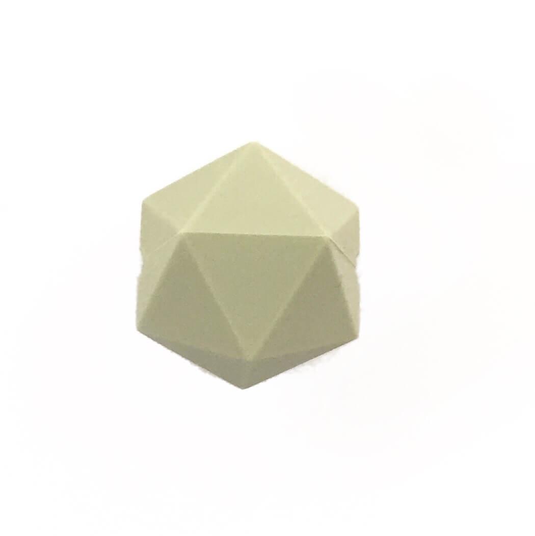 Икосаэдр 23мм (хаки) силиконовая бусина