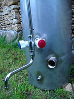 Бак дровяной колонки из нержавейки с возможностью дополнительного нагрева  электричеством