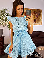 Платье с крылышками и оборкой по краю , фото 1