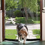 Антимоскитная сетка на дверь Magic Mesh (210*100 см.) защитная сетка штора на двери от комаров и мух, фото 5