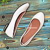 Женские бежевые балетки, из натуральной кожи, на низком ходу, фото 3