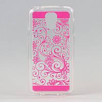 Чехол силиконовый прозрачный розовый для samsung galaxy s5 , фото 1