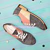 Туфли женские комбинировнные на низком ходу, фото 4