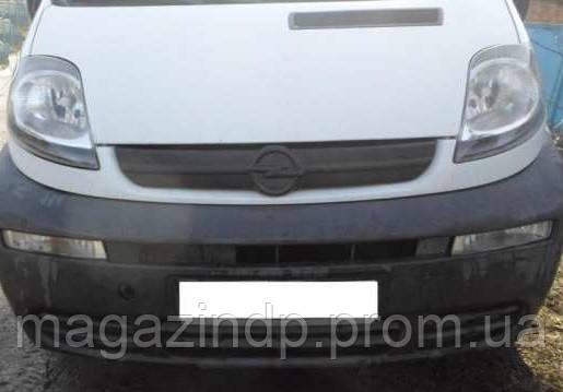 Зимняя накладка (матовая) (матовая) Opel Viv 2001-2006 (решетка) Код:185628868