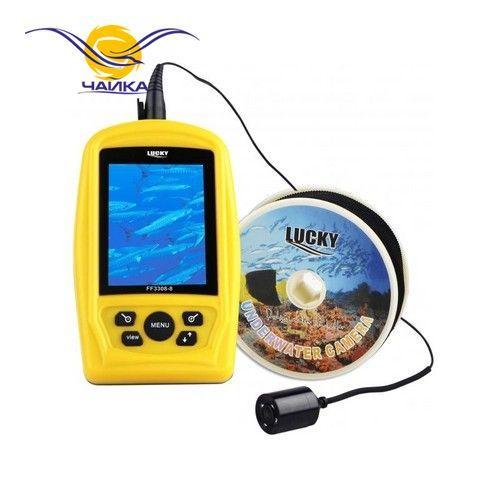 Подводная видеокамера Lucky FF-3308-8. Проводная. Угол обзора 120°. Локация до 7м. Цветной. (Видеоудочка Лаки ФФ3308);